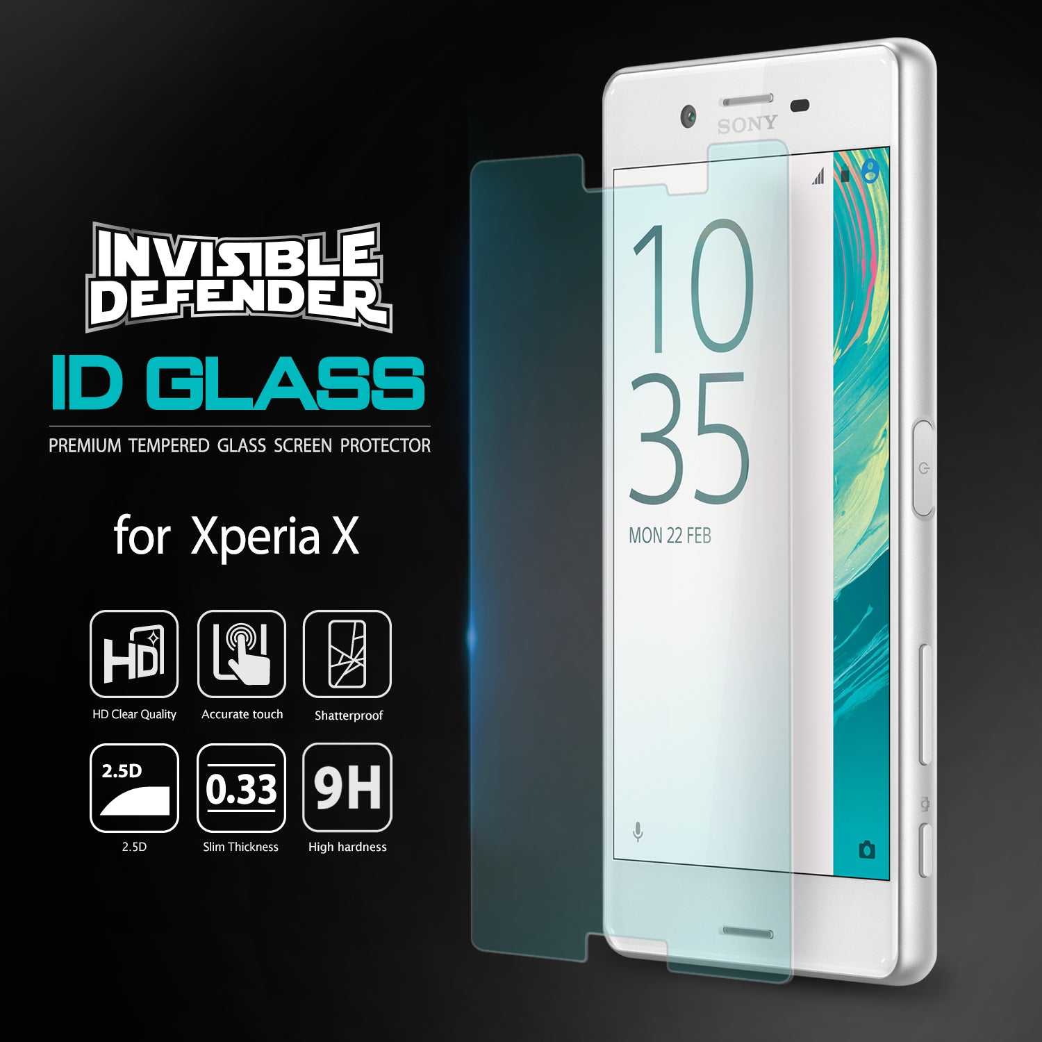 ringke invisible defender glass for xperia x