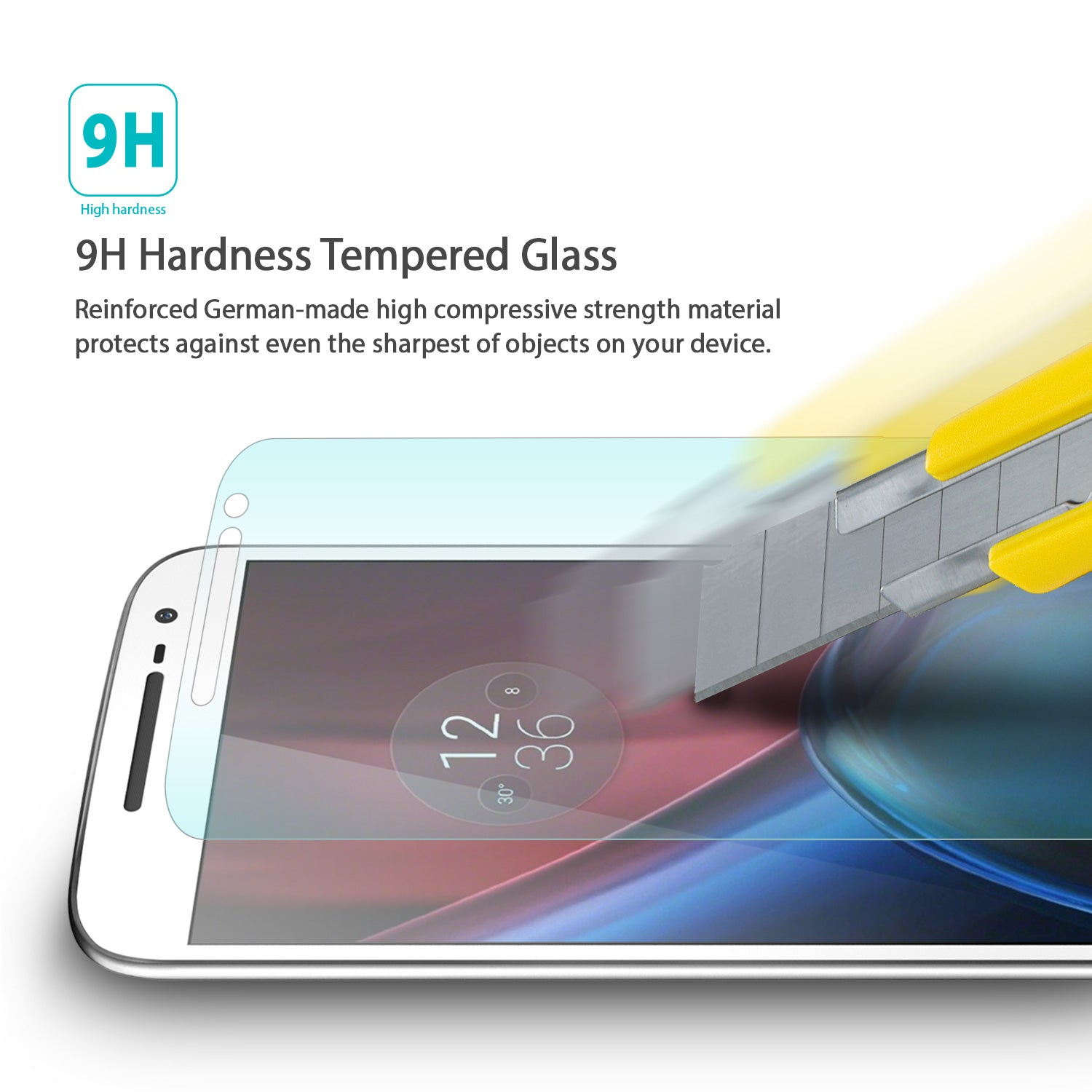 ringke invisible defender tempered glass screen protector for moto g4 plus