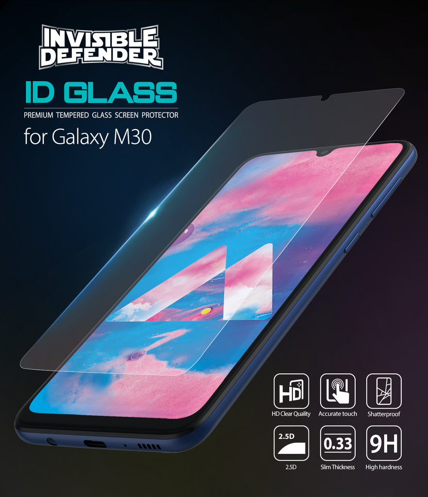 galaxy m30 tempered glass 0 33mm 3 pack