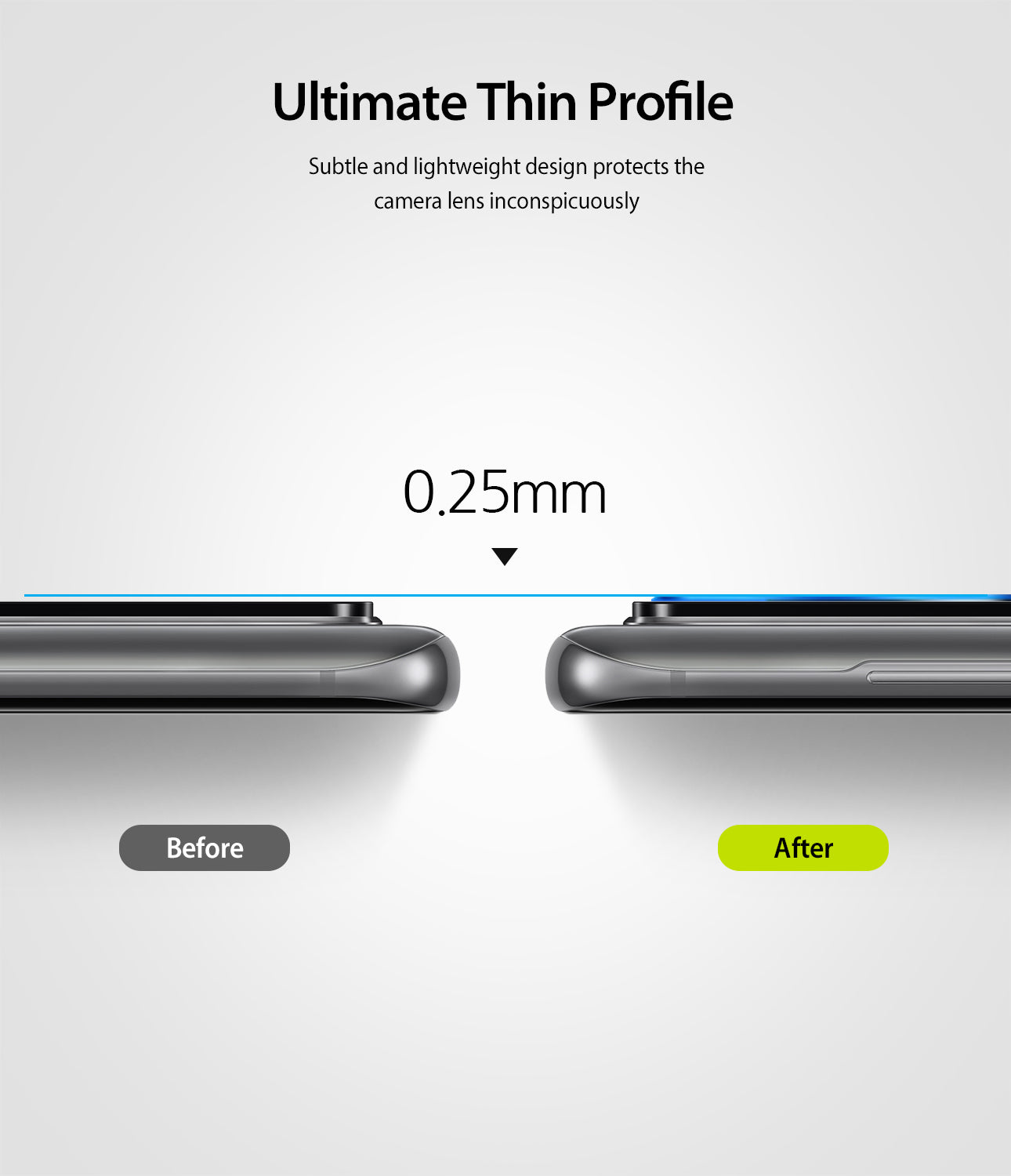 ultimate thin profile of 0.25mm