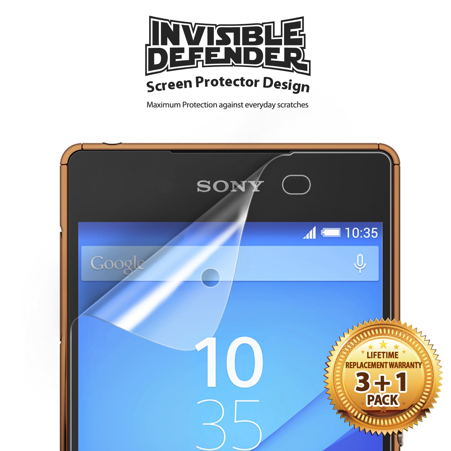 ringke invisible defender screen protector designed for sony xperia z3 / z3 plus
