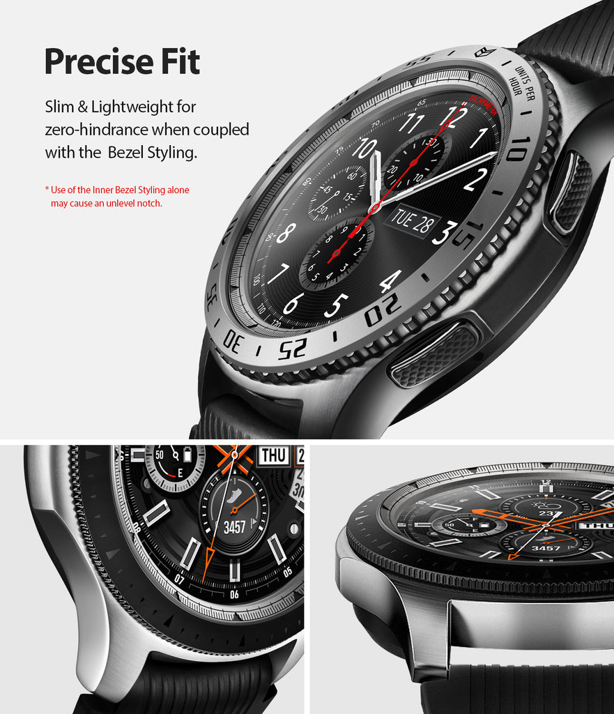 Ringke Inner Bezel Styling for Galaxy Watch 46mm, Gear S3 Frontier, Classic, GW-46-IN-01, PRECISE FIT