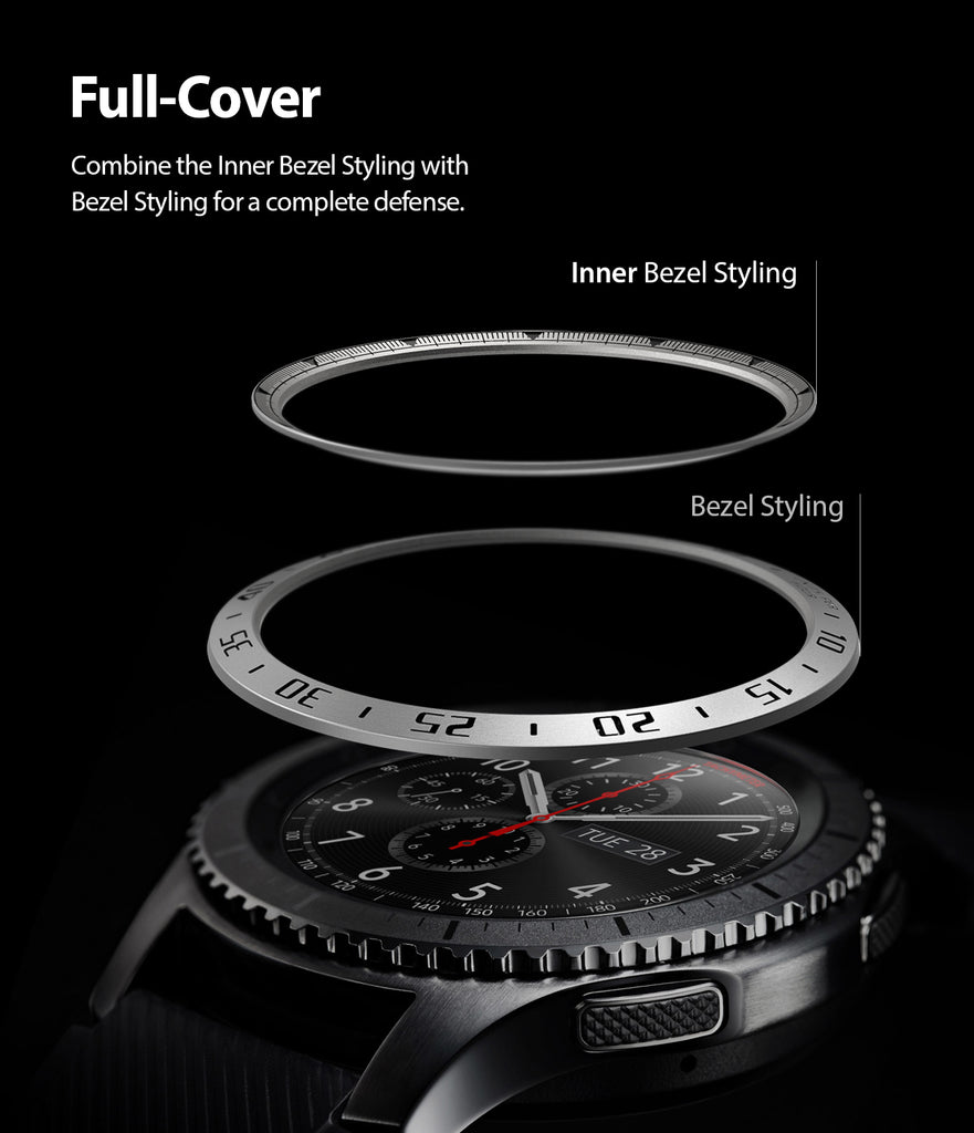 Ringke Inner Bezel Styling for Galaxy Watch 46mm, Gear S3 Frontier, Classic, GW-46-IN-01 FULL COVERAGE