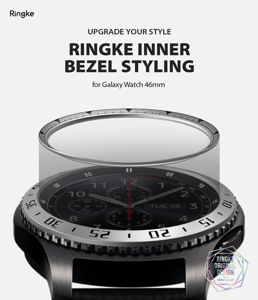 Ringke Inner Bezel Styling for Galaxy Watch 46mm, Gear S3 Frontier, Classic, GW-46-IN-01