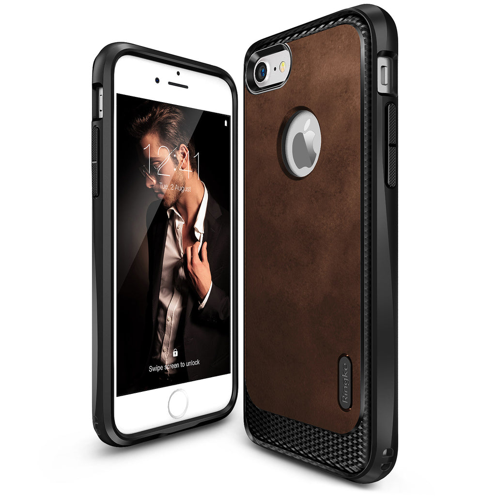 ringke flex s leather case for iphone 7 8 cover main brown