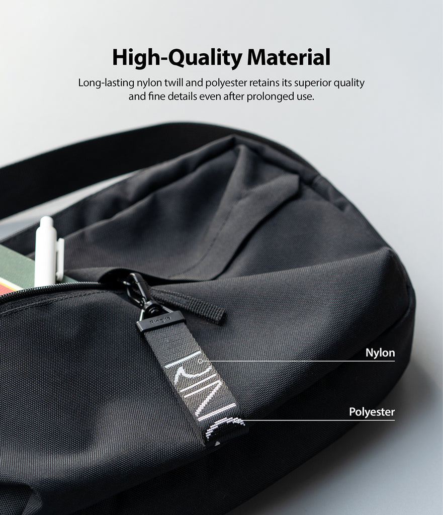 long lasting nylon twill and polyester retians its superior quality and fine details even after prolonged use