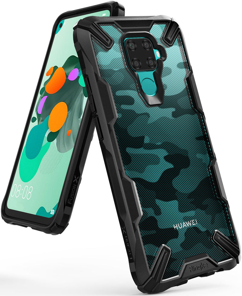 Ringke Fusion X Designed for Huawei Mate 30 Lite Case (2019) - Black