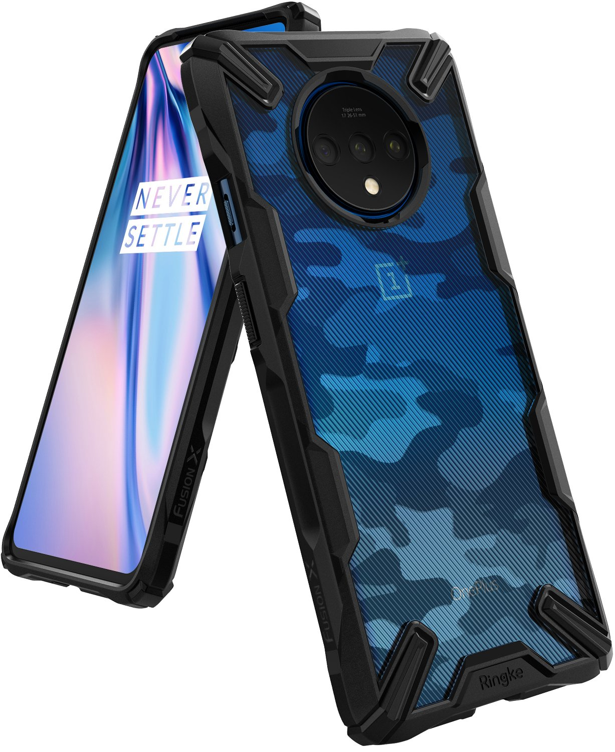 Ringke Fusion X Designed for OnePlus 7T Case (2019) - Camo Black