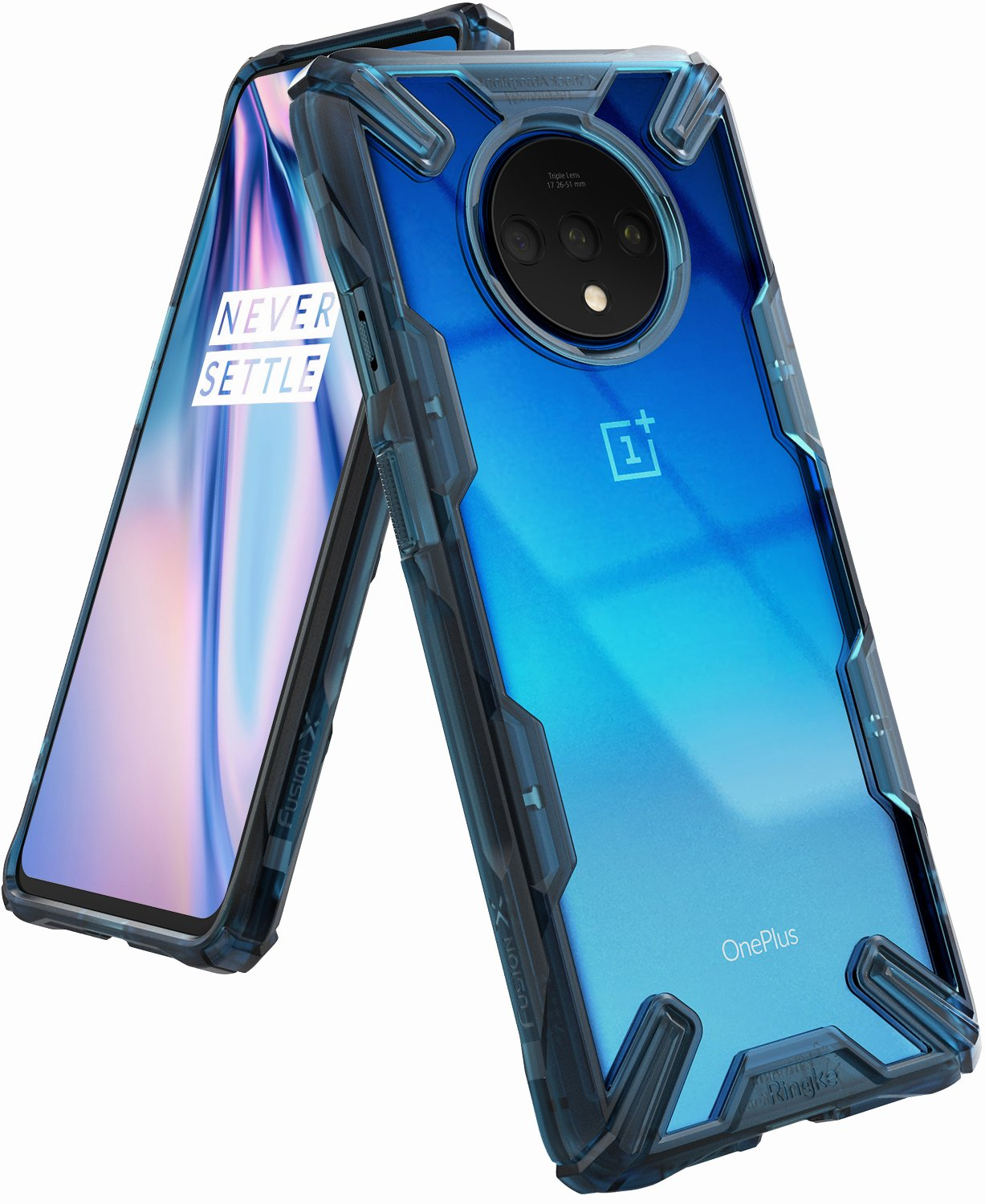 Ringke Fusion X Designed for OnePlus 7T Case (2019) - Space Blue