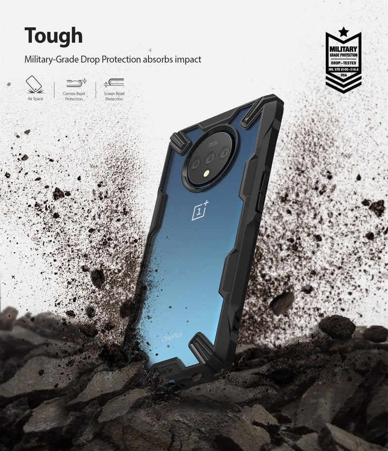 Ringke Fusion X Designed for OnePlus 7T Case (2019) - Black