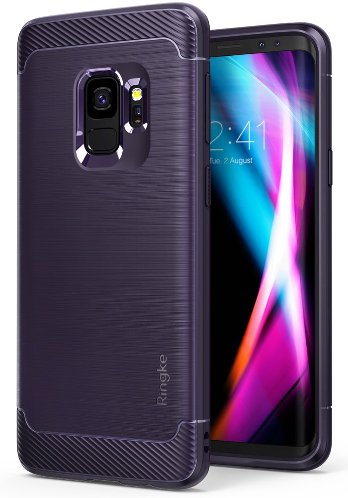 ringke onyx rugged flexible tpu shockproof cover case for galaxy s9 plum violet