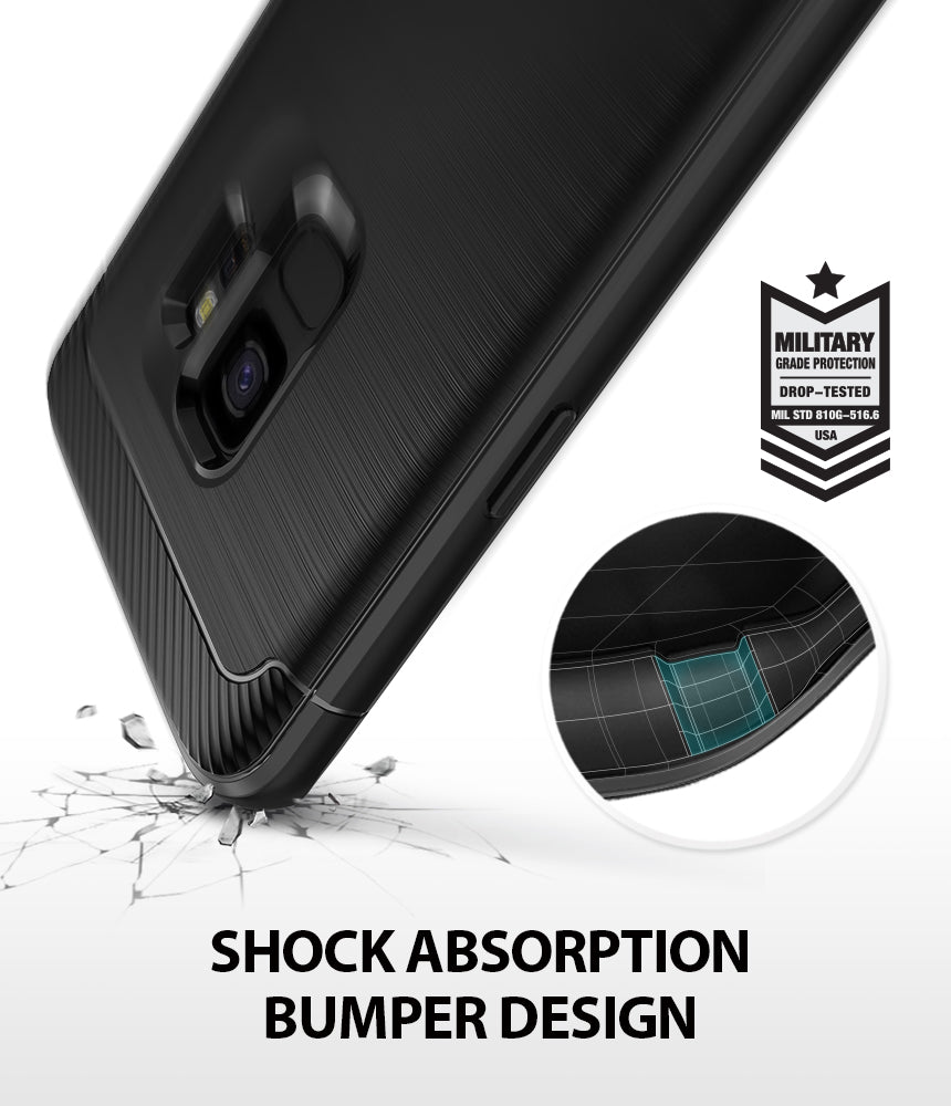 ringke onyx rugged flexible tpu shockproof cover case for galaxy s9 shockproof