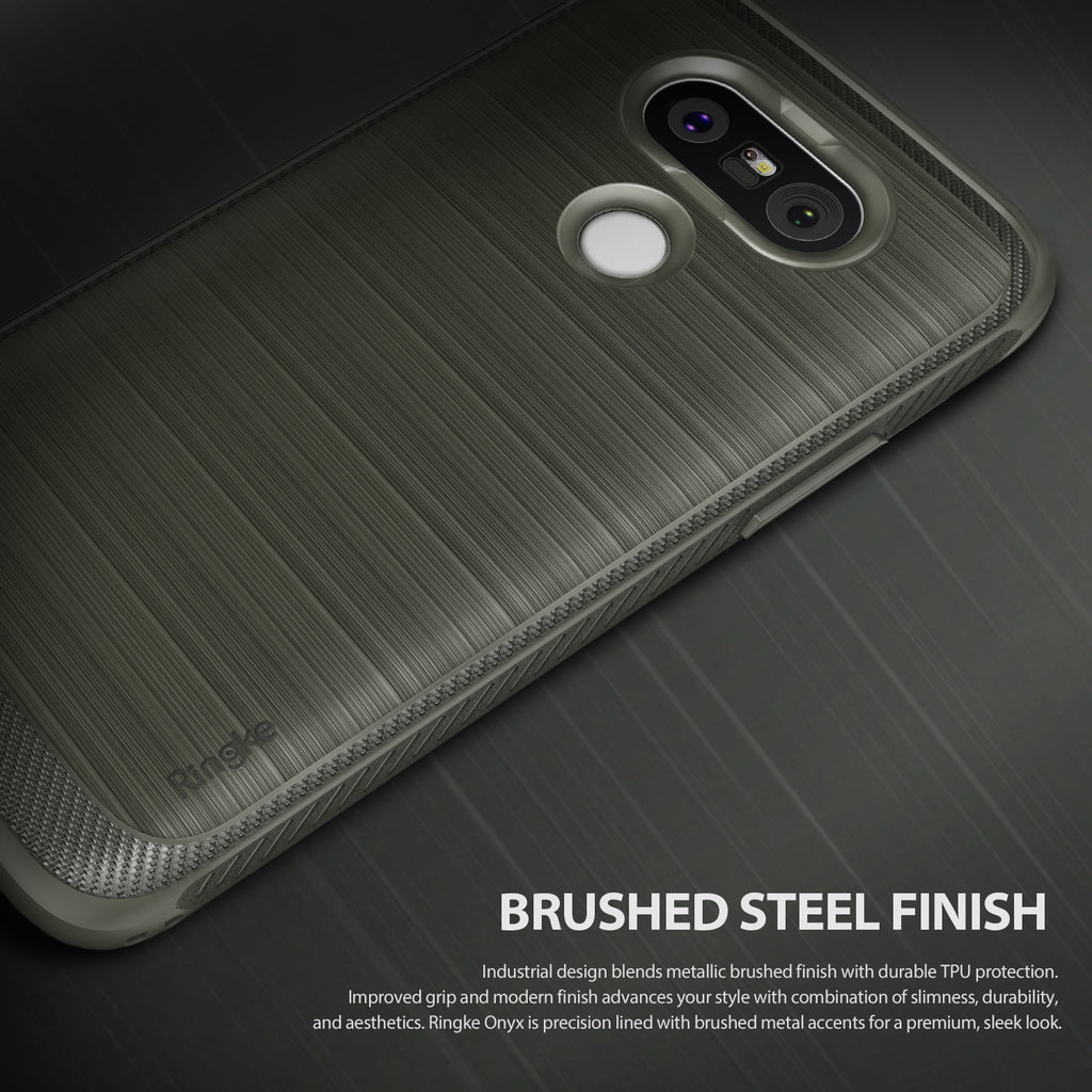 brushed steel finish