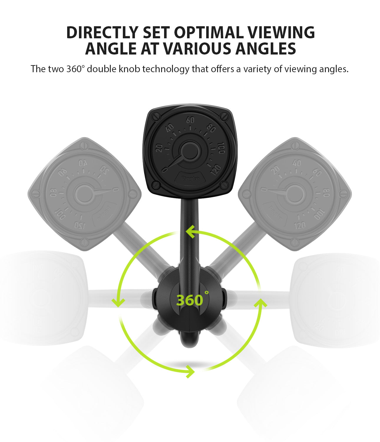 Ringke Power Clip Wing Car Mount directly set optimal viewing angle at various angles