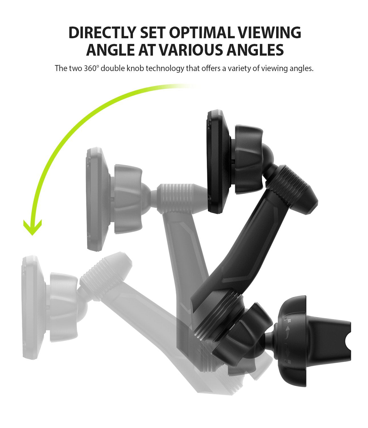 Ringke Power Clip Wing Car Mount ergonomic design with powerful grip