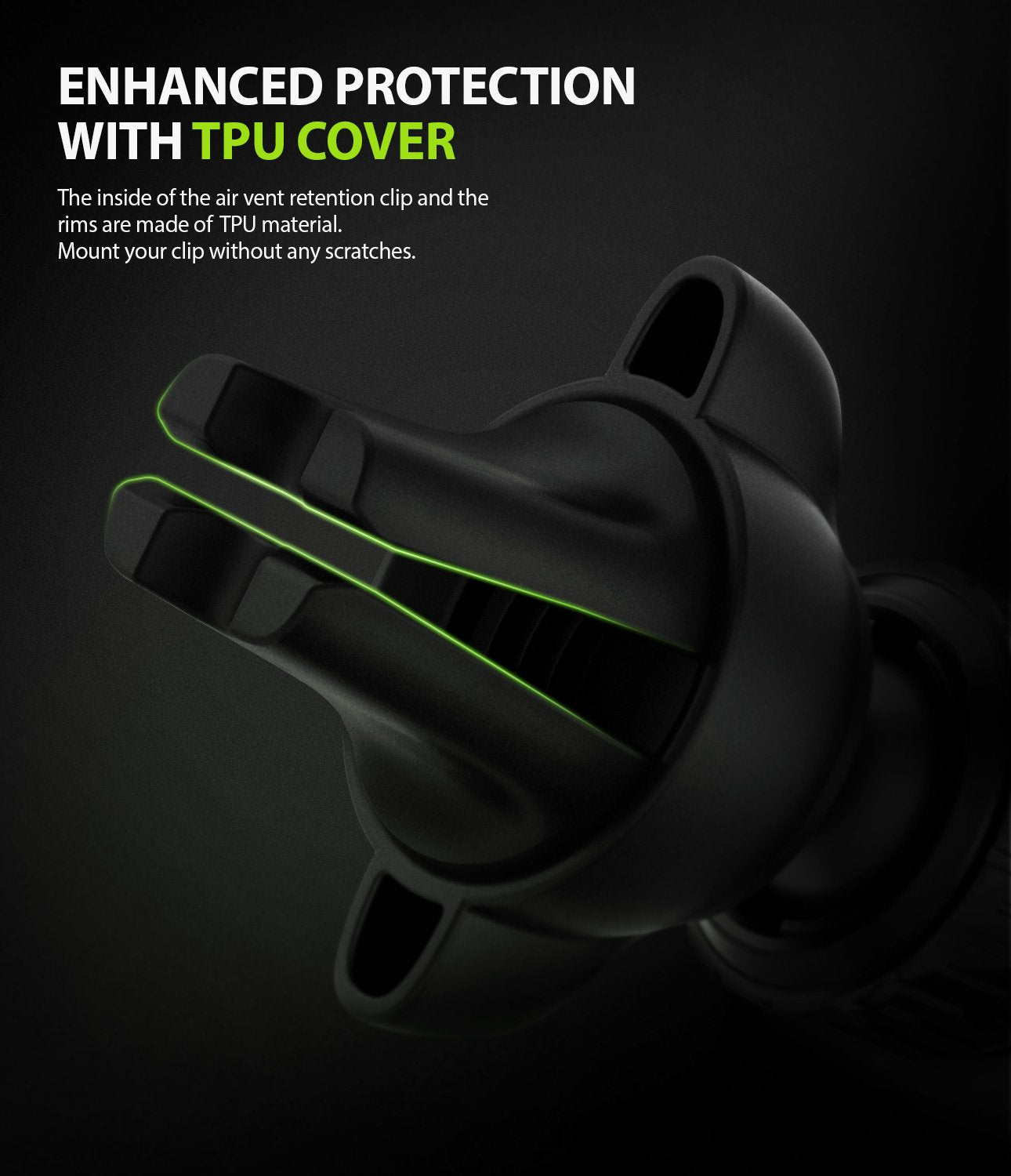 Ringke Power Clip Wing Car Mount enhanced protection with tpu cover to minimized the damage of the air vent