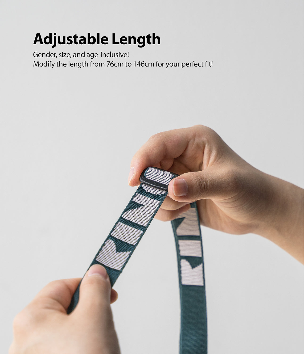 adjustable length : modify the length from 76cm to 146cm for your perfect fit