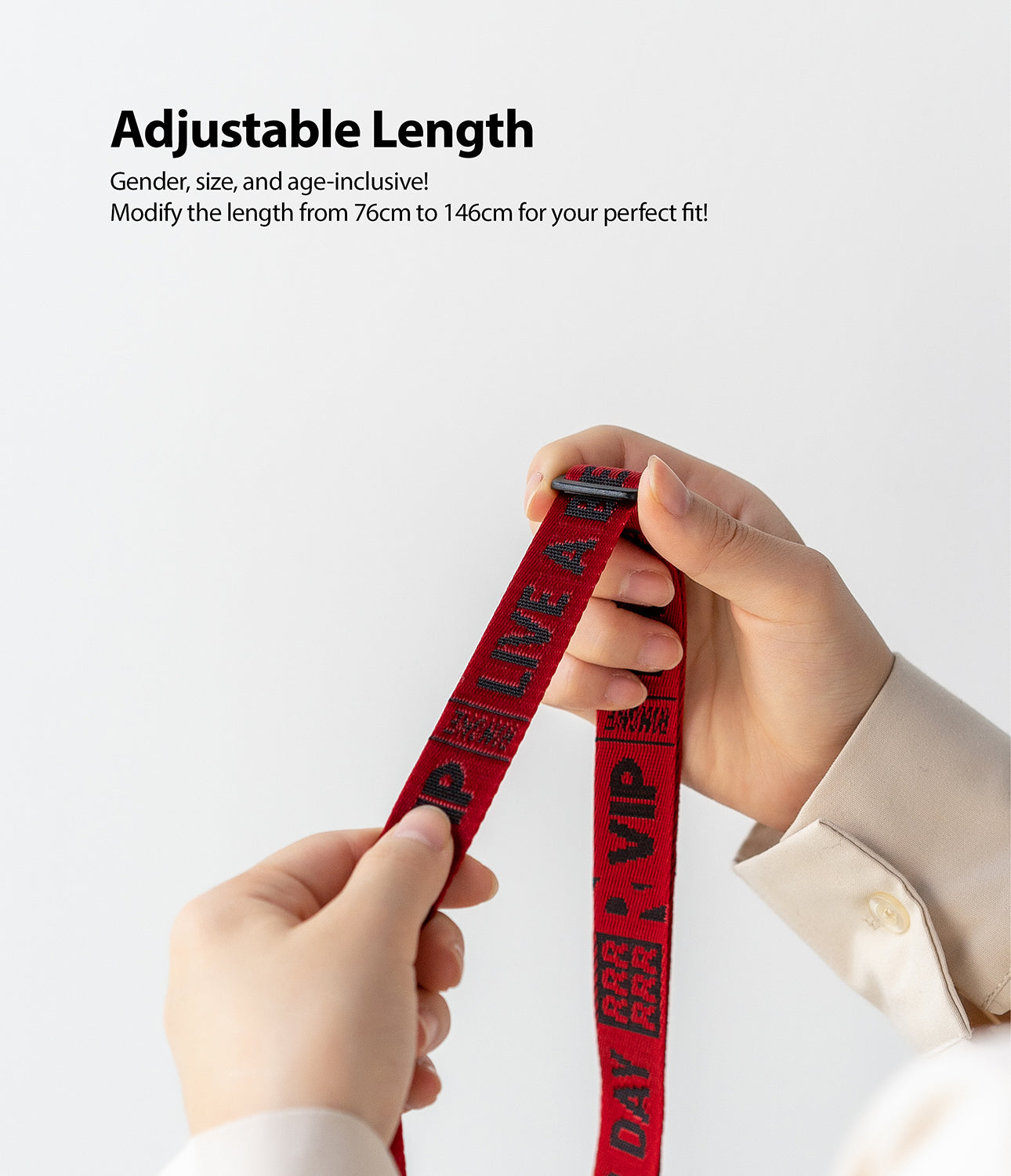 Shoulder Strap Lettering | Ticket Band 2 Red