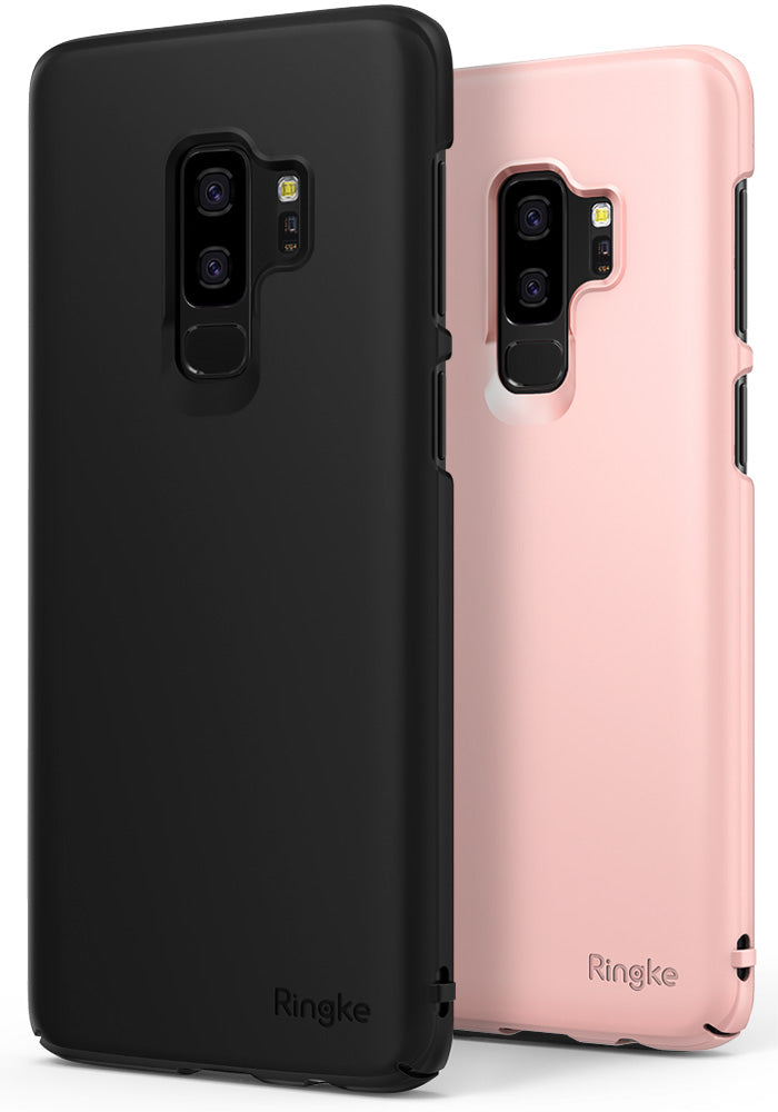ringke slim lightweight thin hard pc back cover for galaxy s9 plus black peach pink