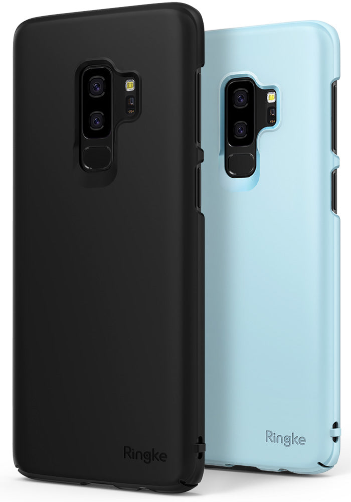 ringke slim lightweight thin hard pc back cover for galaxy s9 plus black sky blue