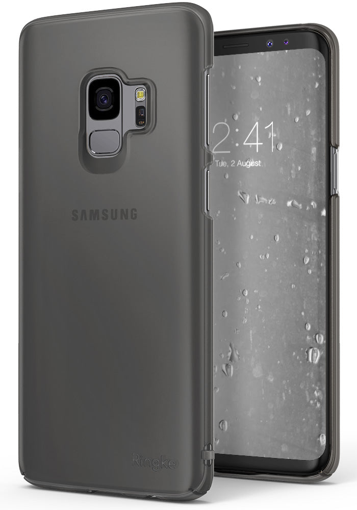 ringke slim premium hard pc protective back cover case for galaxy s9 frost gray
