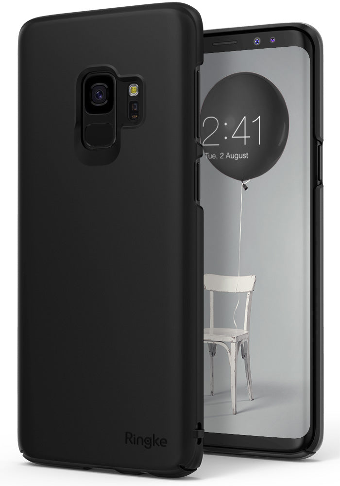 ringke slim premium hard pc protective back cover case for galaxy s9 black