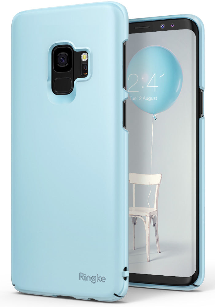 ringke slim premium hard pc protective back cover case for galaxy s9 sky blue