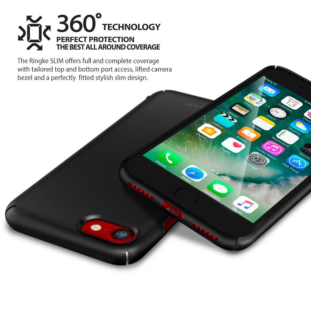ringke slim hard pc thin protective case cover for iphone 7 8 main 360 protetion