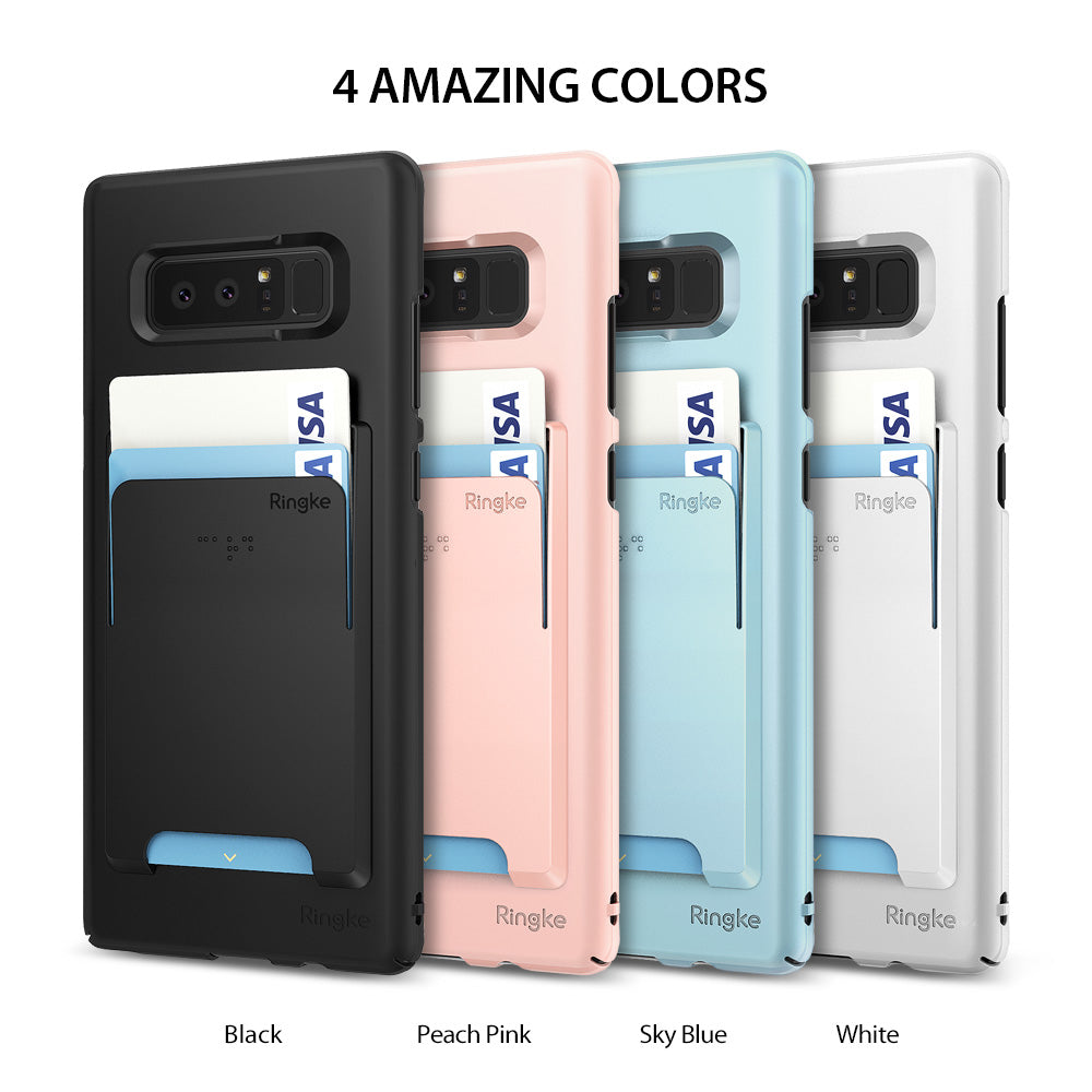 4 amazing colors - black, peach pink, sky blue, white