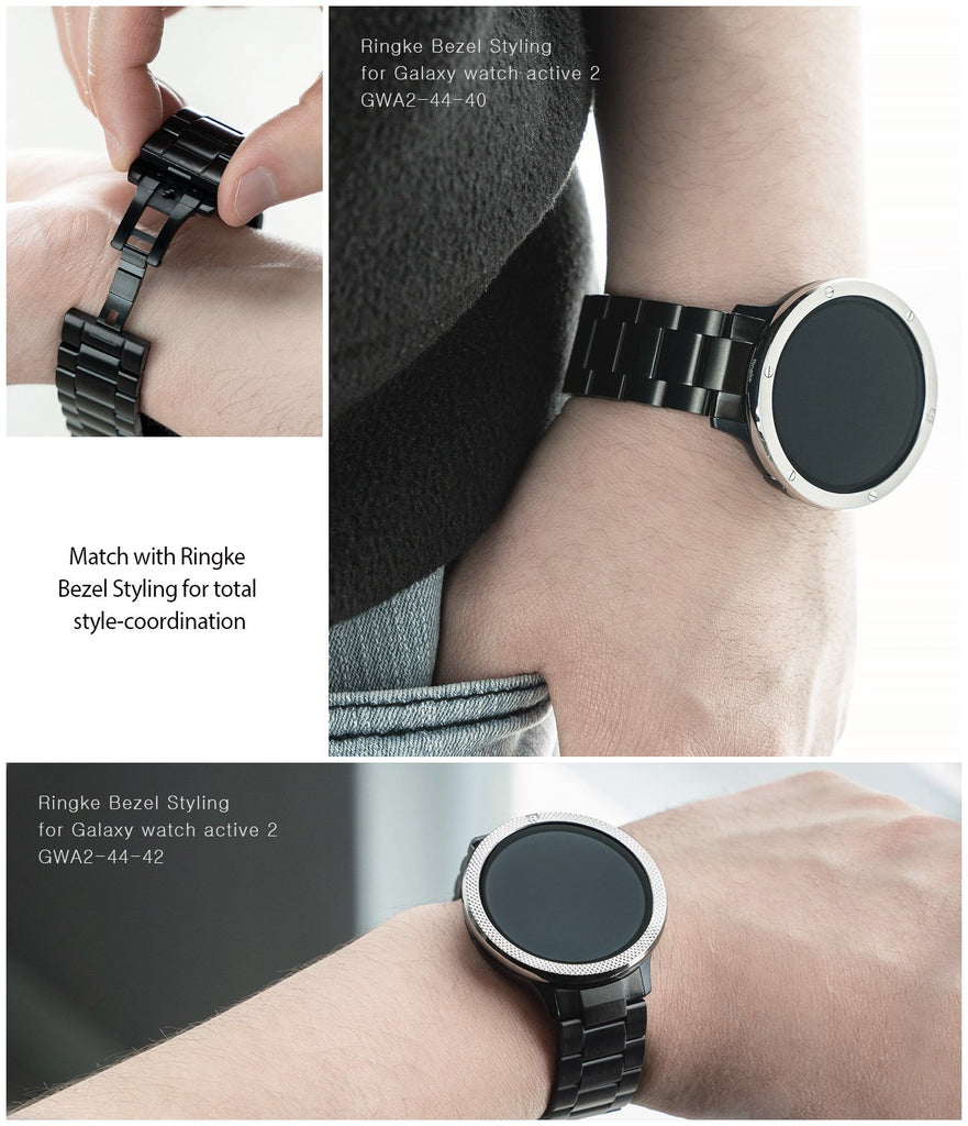 ringke metal one band stainless silver watch band for galaxy watch active 2 44mm match your style
