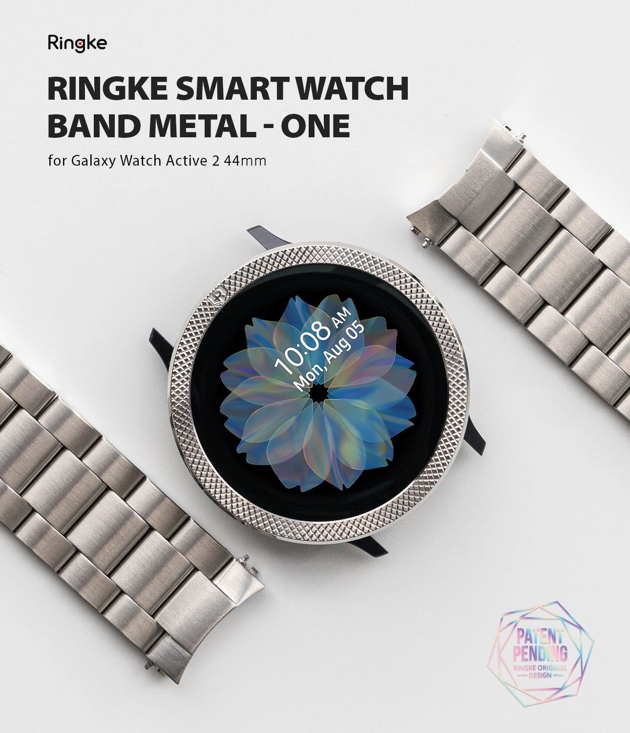 Ringke Smart Watch Band Metal-One for Galaxy Watch Active 2 (44mm).
