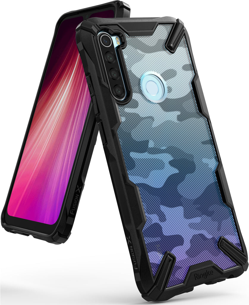 Ringke FUSION-X Design Case for Xiaomi Redmi Note 8 (2019) - camo black