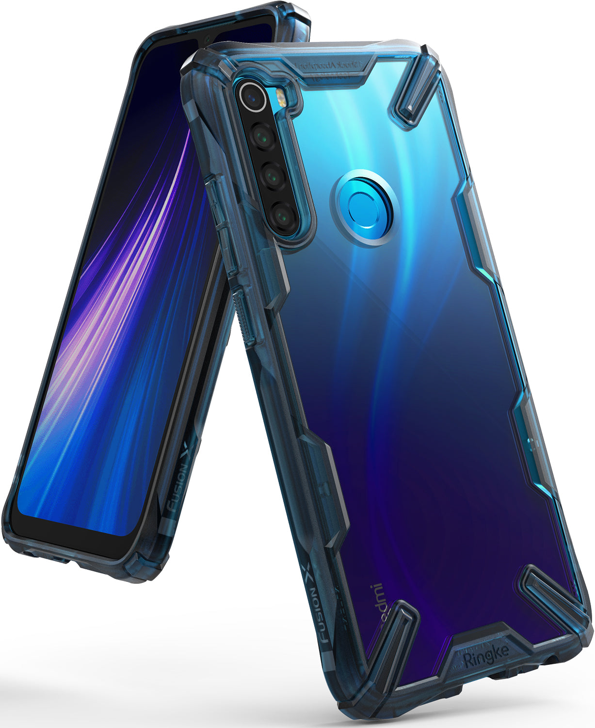 Ringke FUSION-X Design Case for Xiaomi Redmi Note 8 (2019) - space blue