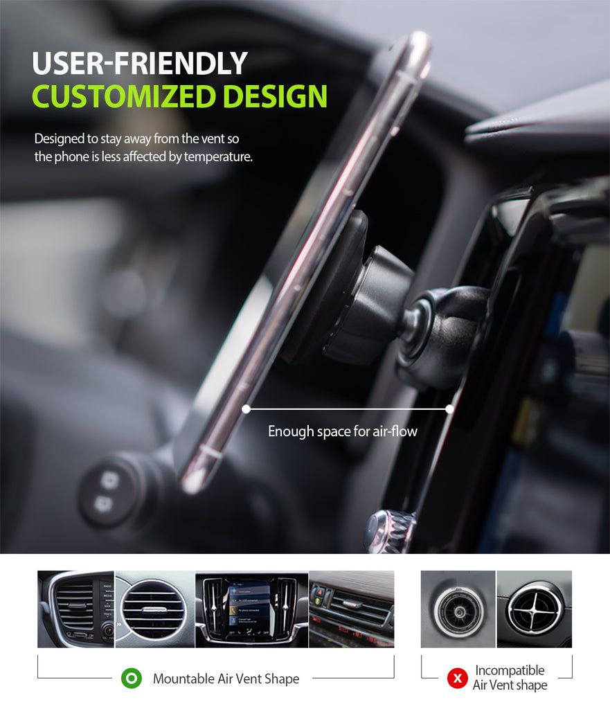 power Clip Air Vent Car Mount - user friendly customized design