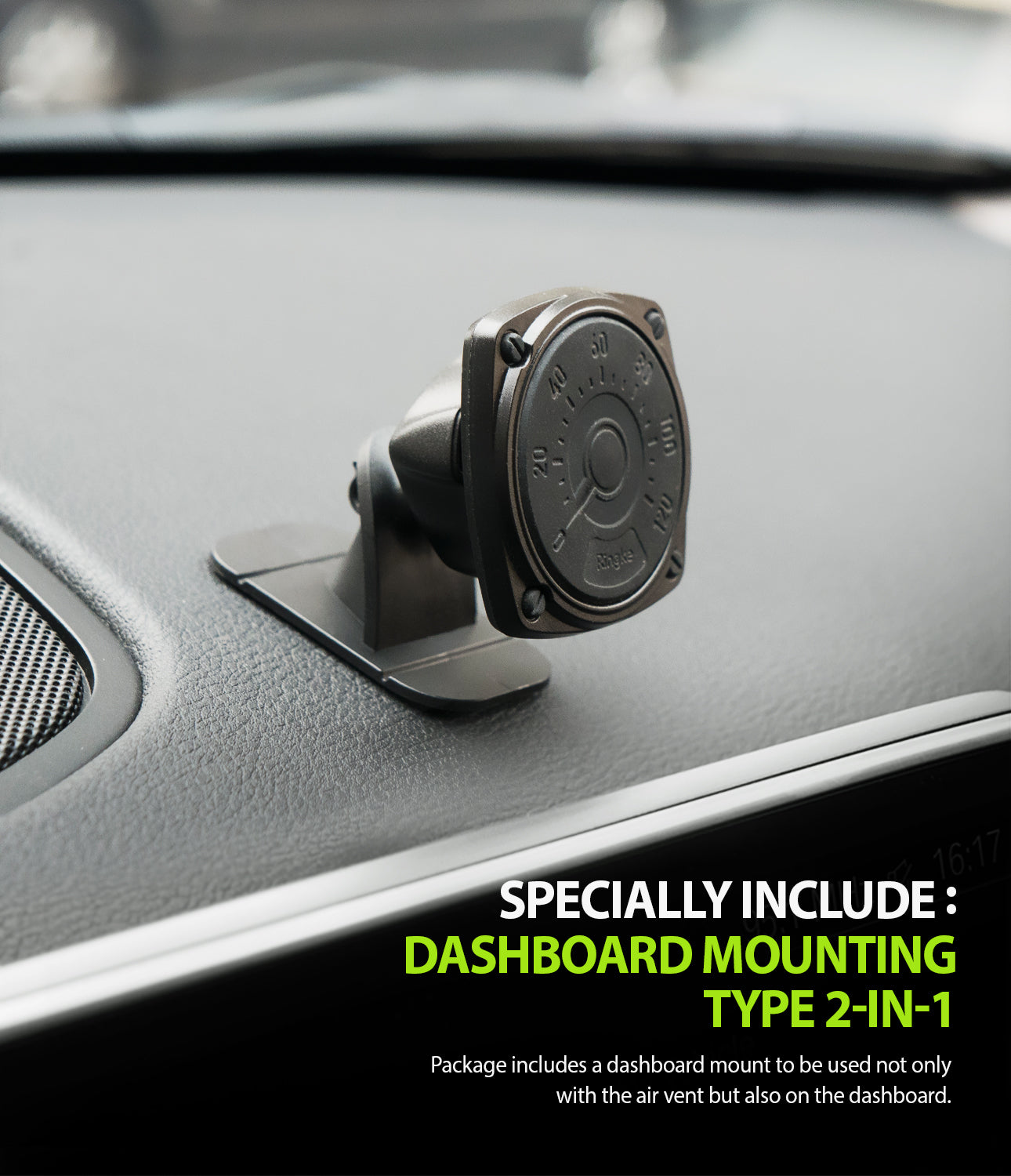 power Clip Air Vent Car Mount - dashboard mounting type included