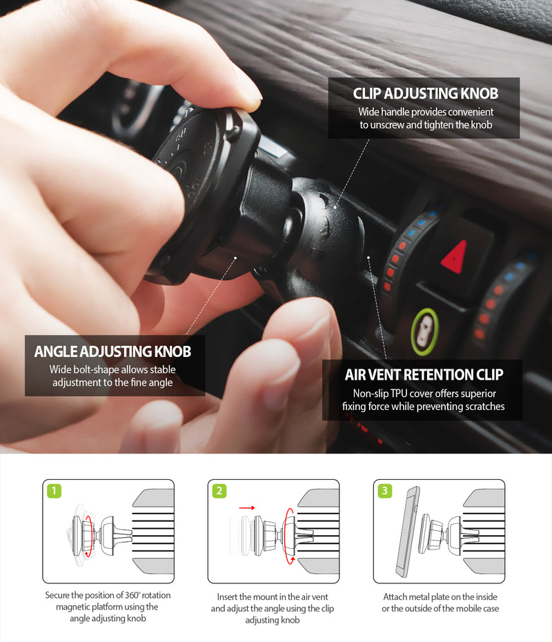 Ringke® Power Clip Air Vent Car Mount