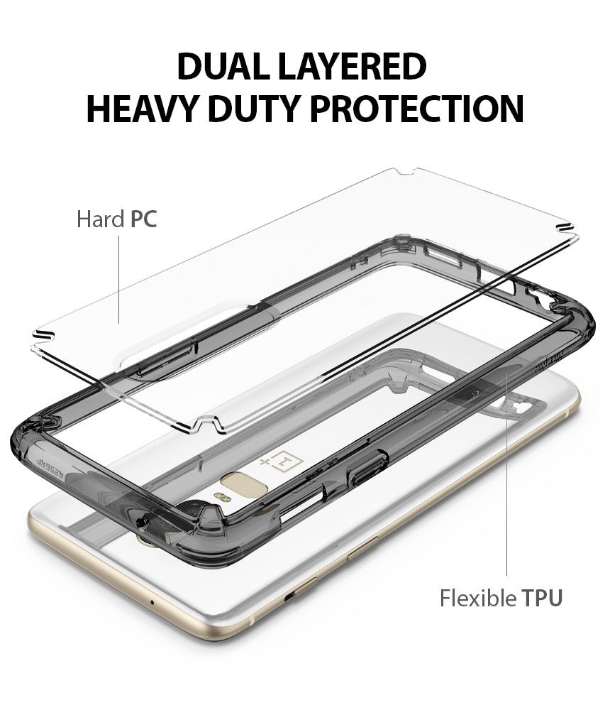 dual layered heavy duty protection with hard PC and flexible TPU