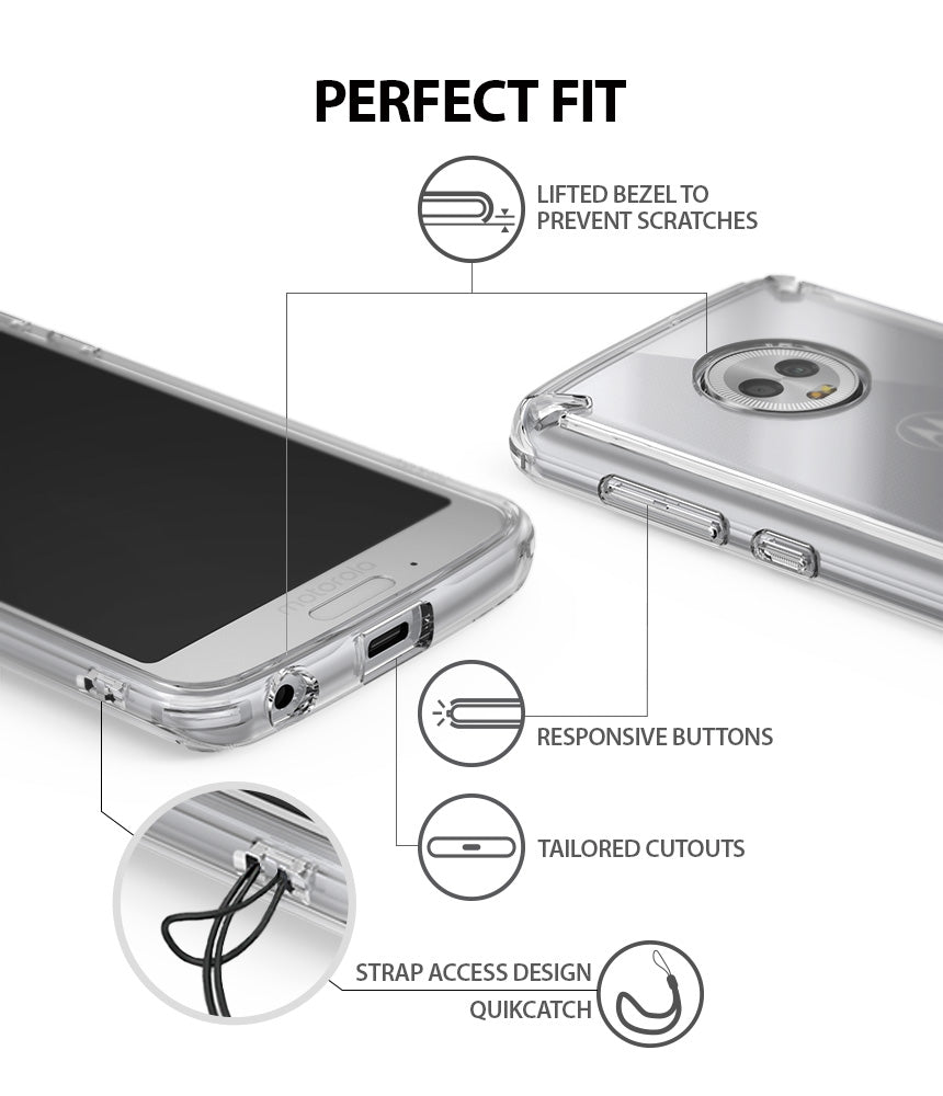 ringke fusion clear transparent hard pc back case cover for moto g6 main perfect fit