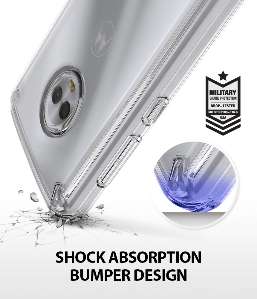 ringke fusion clear transparent hard pc back case cover for moto g6 main shockproof protection