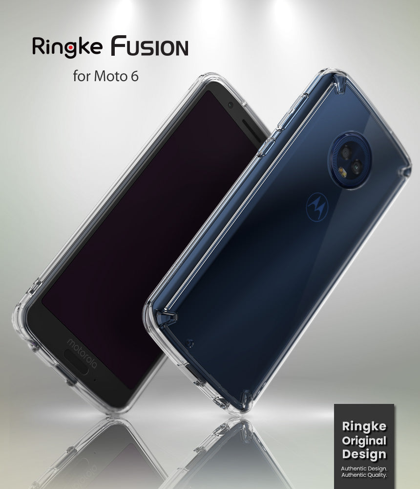 ringke fusion clear transparent hard pc back case cover for moto g6 main