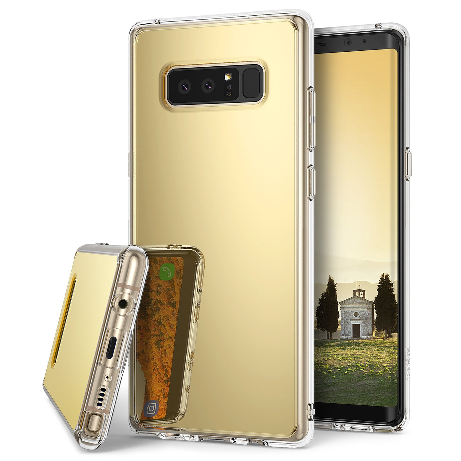 ringke mirror case for galaxy note 8 - royal gold