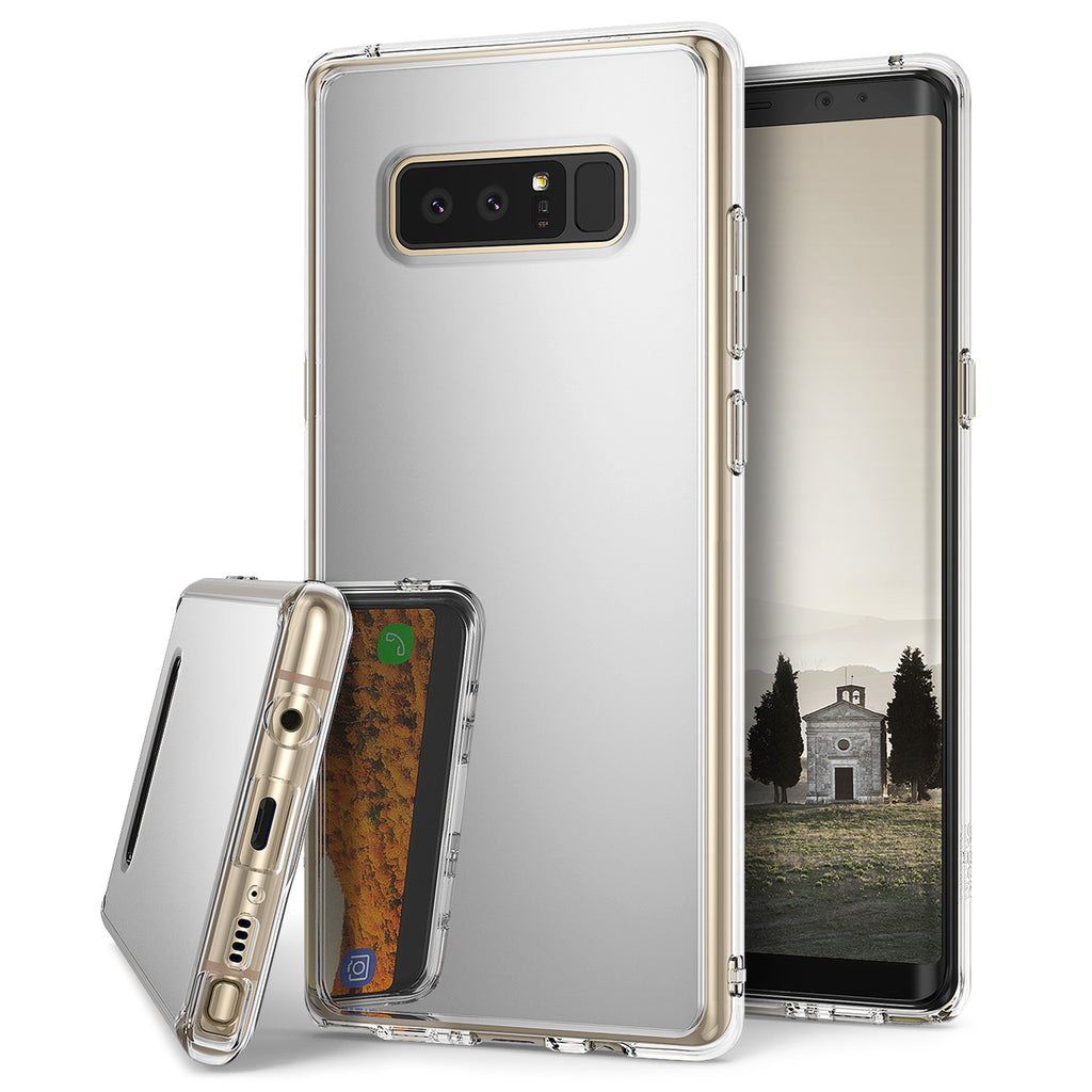 ringke mirror case for galaxy note 8 - silver
