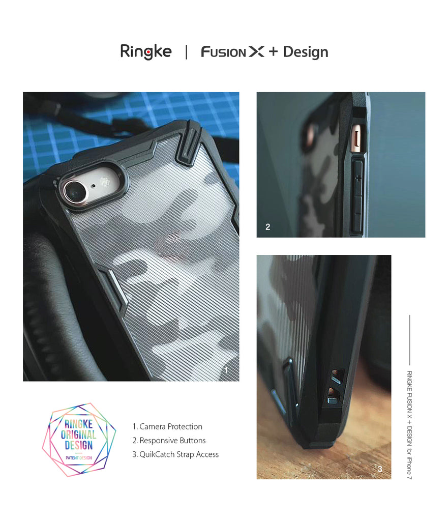 ringke fusion-x advanced bumper heavy duty protective case cover for iphone 7 8 main detail image
