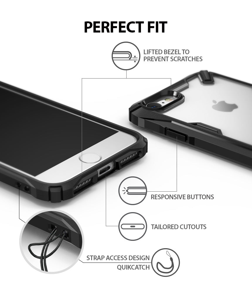 ringke fusion-x advanced bumper heavy duty protective case cover for iphone 7 8 main perfect fit