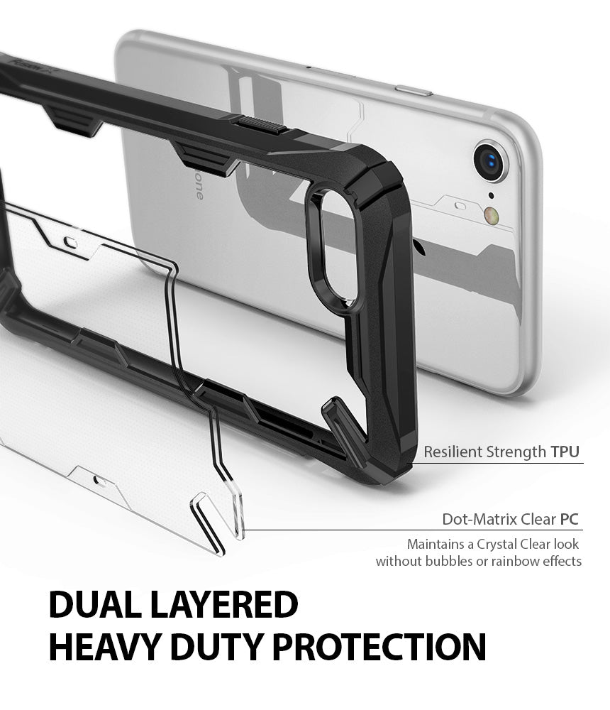 ringke fusion-x advanced bumper heavy duty protective case cover for iphone 7 8 main heavy duty protection