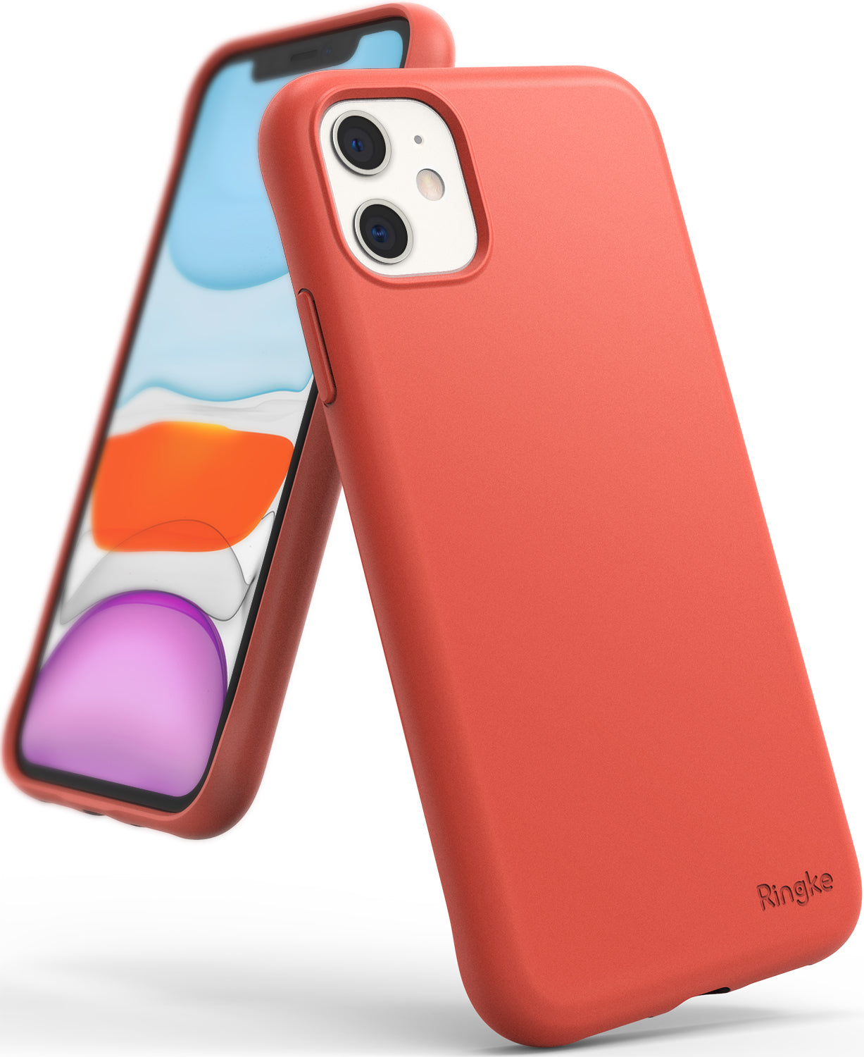 Ringke Air-S Designed for iPhone 11 Case iPhone XI Case iPhone 11R Case Cover (2019) - Coral
