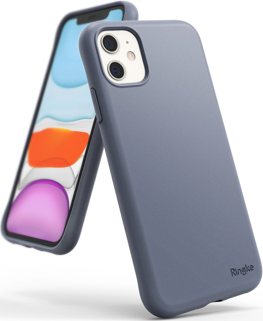 Ringke Air-S designed for iPhone 11 Slim Flexible TPU Soft Coating Smartphone Protection lavender gray
