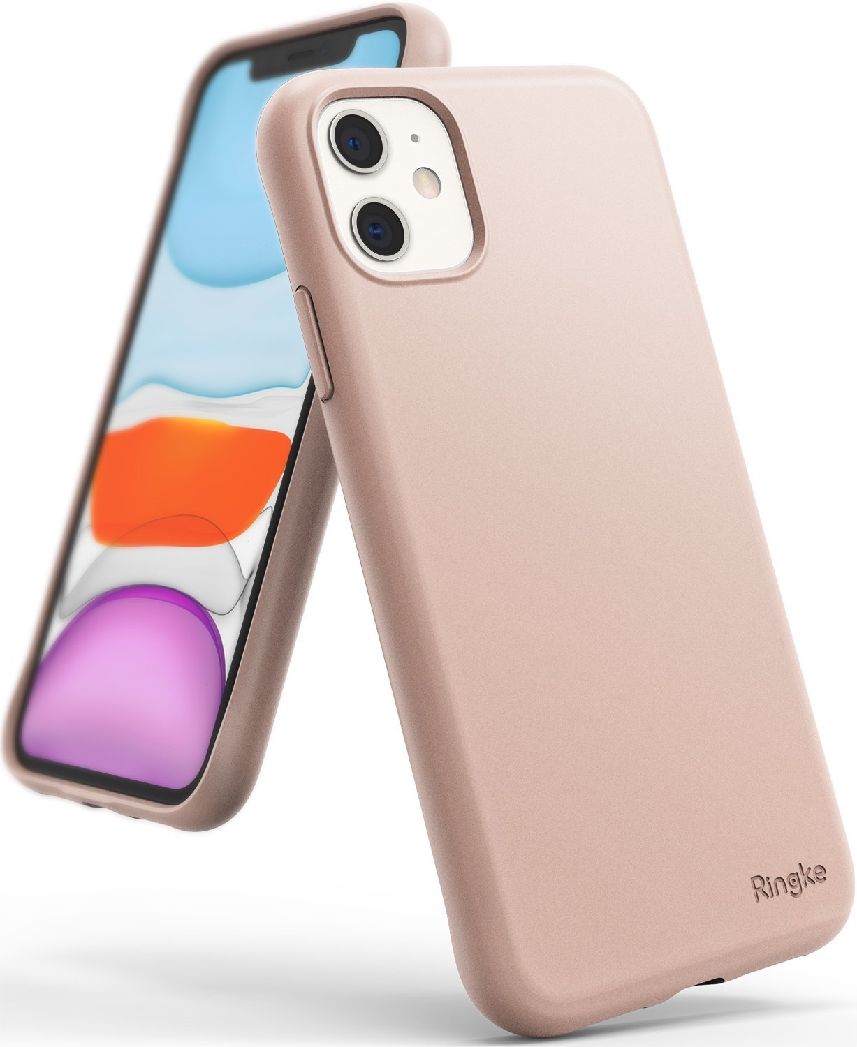 Ringke Air-S designed for iPhone 11 Slim Flexible TPU Soft Coating Smartphone Protection Pink Sand