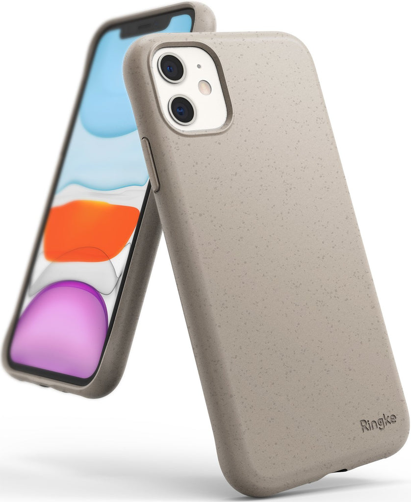 Ringke Air-S designed for iPhone 11 Slim Flexible TPU Soft Coating Smartphone Protection sand stone