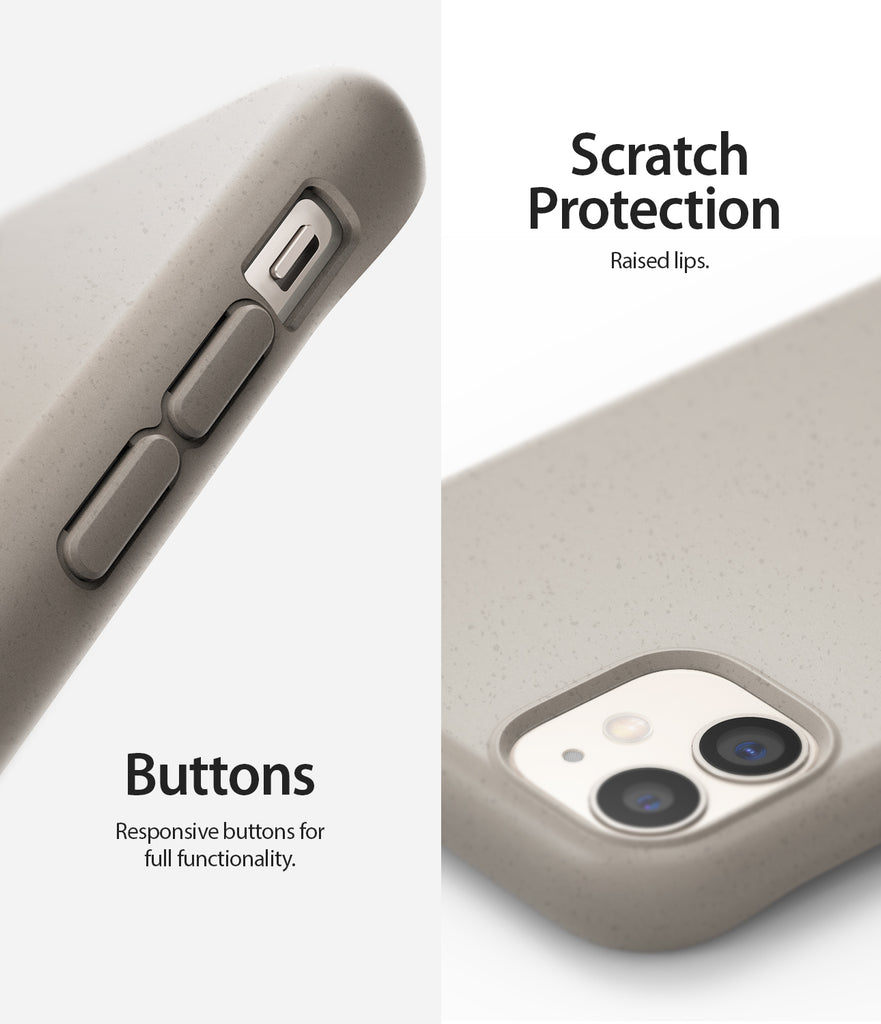 scratch protection with raised lips